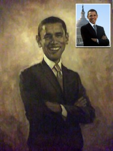 Two hour sketch by award winning artist Gabriel Utasi of newly elected President Barack Obama.