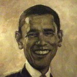President Barack Obama portrait by award-winning artist Gabriel Utasi