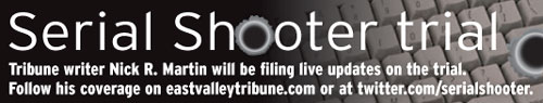 Serial Shooter trial blog logo for East Valley Tribune