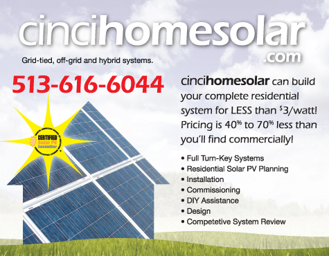 Cincinnati Advertising Design by Gabriel Utasi for CinciHomeSolar