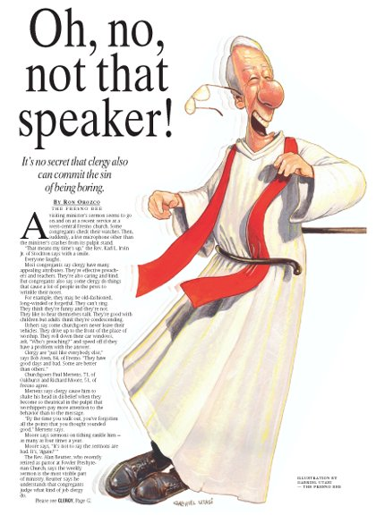 Relegious Speaker Illustration by Cincinnati Artist Gabriel Utasi