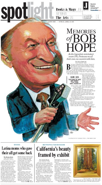 Bob Hope Celebrity Illustration for The Fresno Bee by Cincinnati Artist Gabriel Utasi