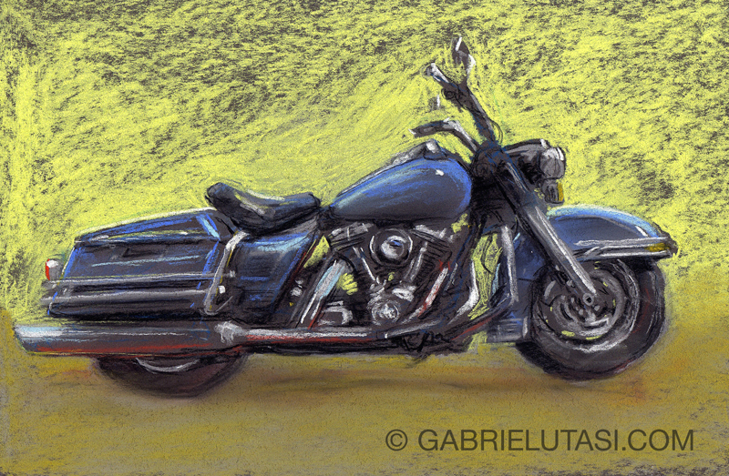 Motorcycle Art By Cincinnati Artist Gabriel Utasi