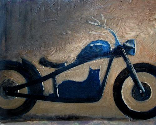 Motorcycle Art by Artist Gabriel Utasi