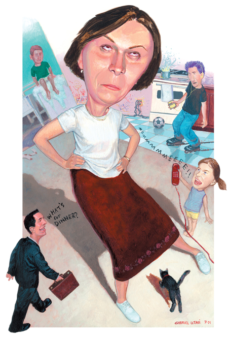 Family Stress Illustration for The Cincinnati Enquirer by Cincinnati Artist Gabriel Utasi