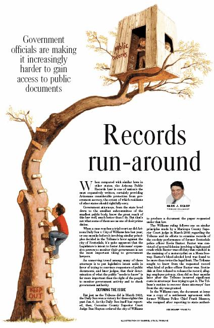 Public Records Illustration by Cincinnati Artist Gabriel Utasi