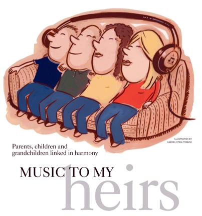 Family Music Illustration by Cincinnati Artist Gabriel Utasi