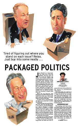 Bill O'Reilly, John Stewart and Bill Maher caricature illustration by Gabriel utasi