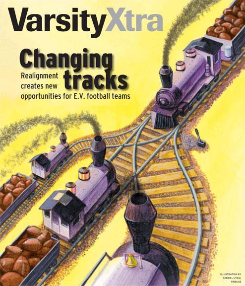 High School Football Illustration by Cincinnati Artist Gabriel Utasi