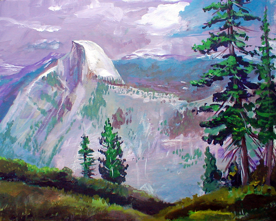 Yosemite Half Dome Oil Painting by Cincinnati Artiist Gabriel Utasi
